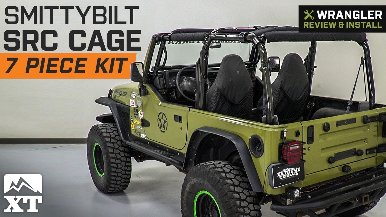 Jeep Wrangler Smittybilt Src Cage Kit 7 Piece Gloss Black 1997 2006 Tj Review Install Youtube