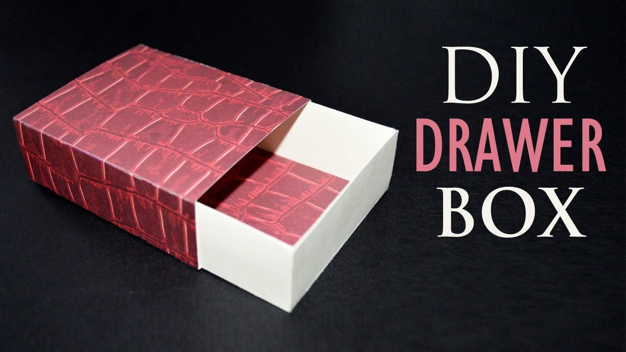 How To Make A Paper Box Diy Sliding Gift Box Youtube