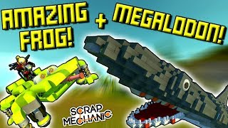 AMAZING FROG and MEGALODON with CHERU (+ toilets?)  - Scrap Mechanic Multiplayer Gameplay