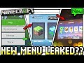 Minecraft - NEW MENU LEAKED ? [ User Interface Update ] MCPE / Bedrock / Xbox / Switch