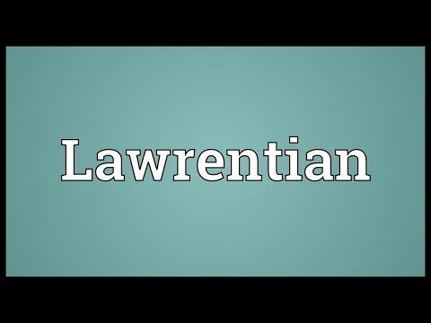 Header of Lawrentian