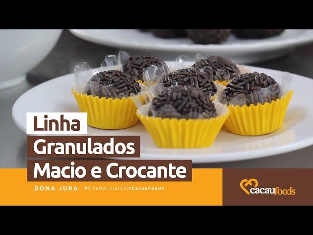 Modos de Aplicações - Linha Granulados Macio e Crocante #CrieDelíciasComCacauFoods