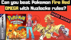 Fire Red HARD MODE! Can you beat Pokemon Fire Red OMEGA with Nuzlocke Rules? (Rom Hack Challenge)