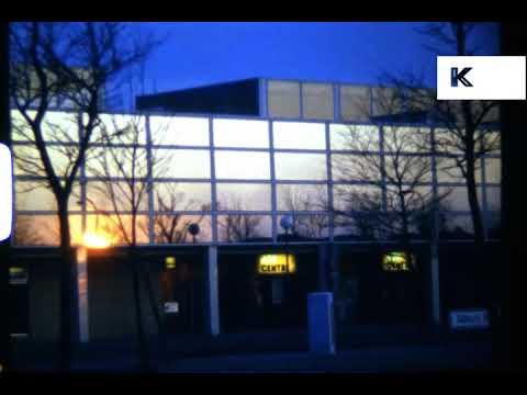 1979 UK Sunset Over Job Centre, Super 8, Unemployment