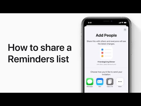 How To Share A Reminders List On IPhone, IPad, And IPod Touch — Apple Support