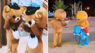 【抖音_玩偶】偶遇會跳舞的鬆弛熊ʕ•͡-•ʔ,可愛熊熊合集