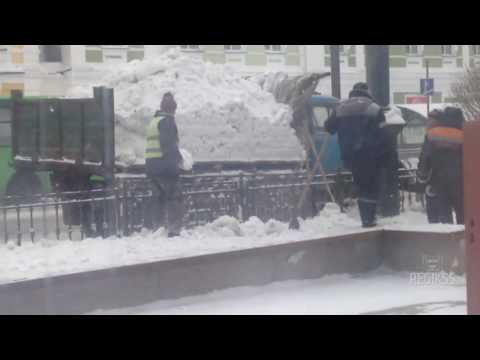 Равномерное распределение снега в Омске