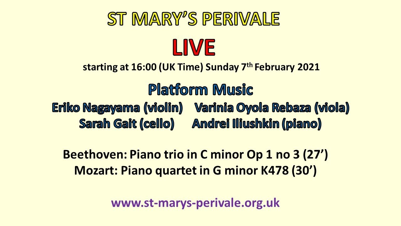 St Mary's LIVE: Platform Music Ensemble
