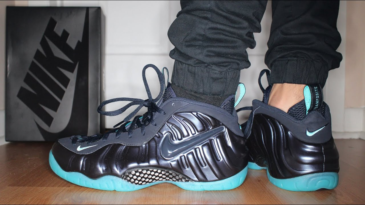 de3f164c490 store nike foamposite pro island green 6 29d09 466b6  switzerland nike air  foamposite pro dark obsidian on feet sneaker talk youtube 029c3 c412d