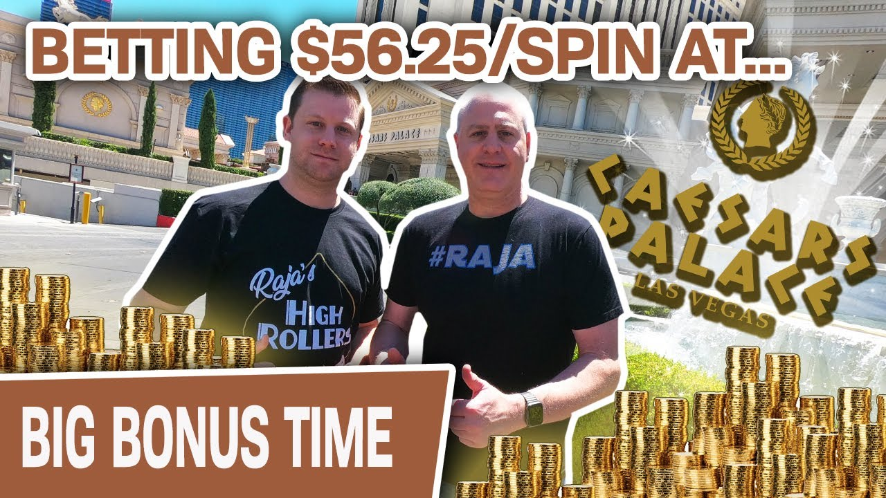🌟 CAESARS PALACE Slot Wins! 🤪 Betting $56.25 Per Spin on Golden Egypt
