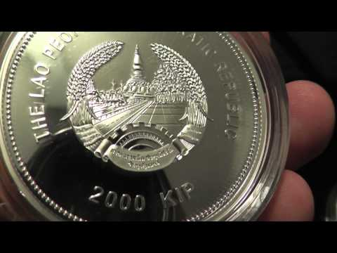 Laos lunar series Silver coins, now with more jade!