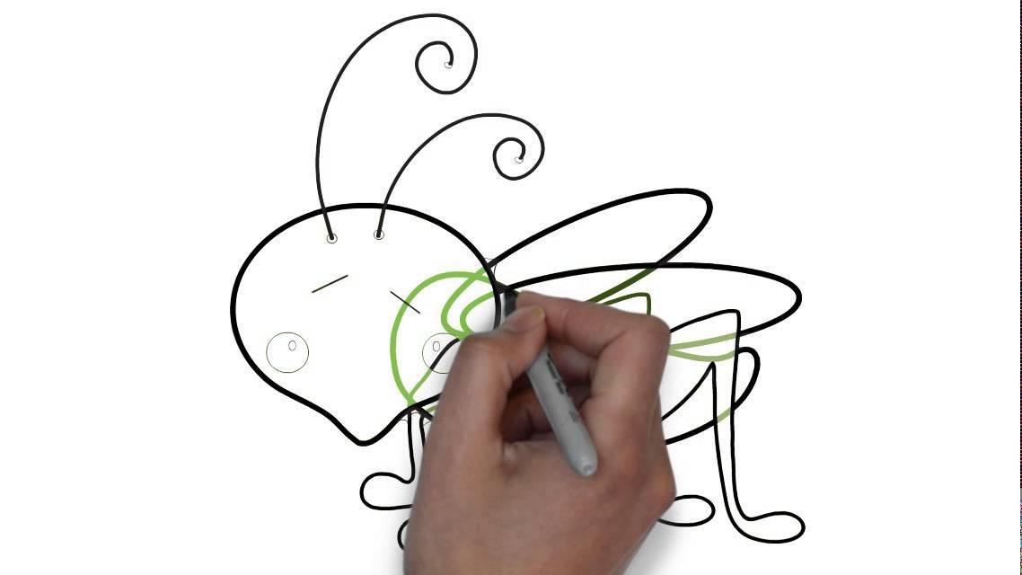 como desenhar um gafanhoto youtube