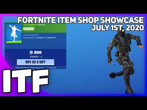 Fortnite Item Shop *NEW* SACKIN' EMOTE! [July 1st, 2020] (Fortnite Battle Royale)