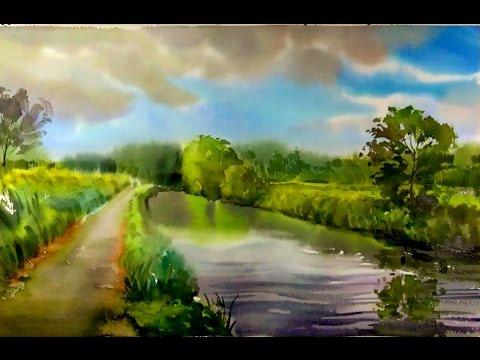 quickly paint landscape