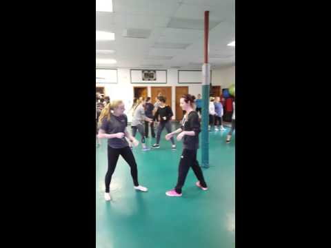 Self Defense for students from Richmond Burton High School