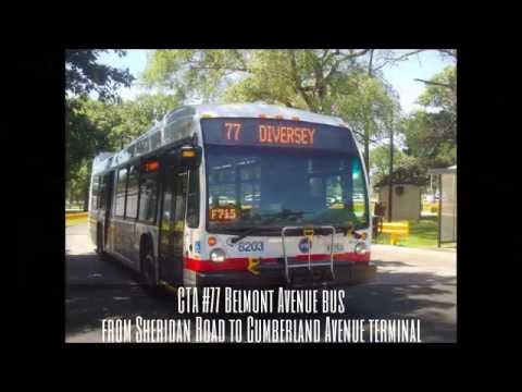 Cta 77 Belmont Avenue Bus From Sheridan Road To