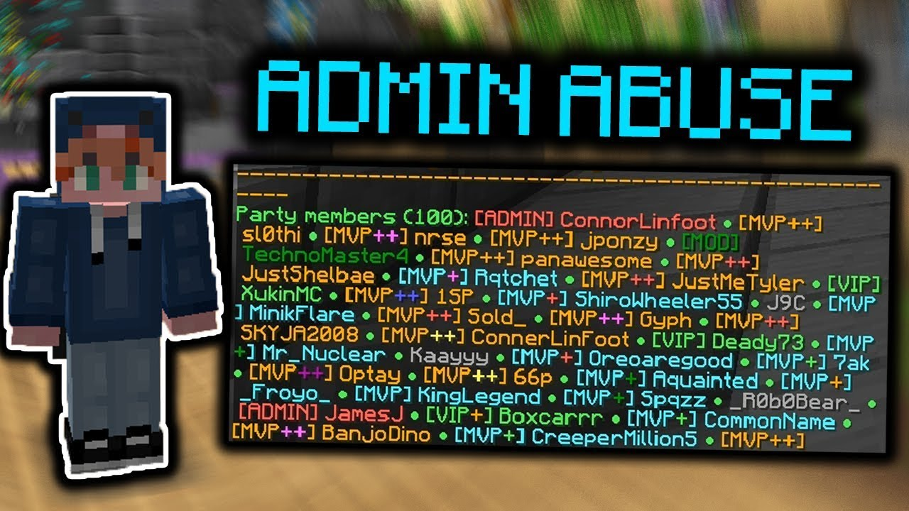 CRAZY ADMIN ABUSE GAMES! - Hypixel