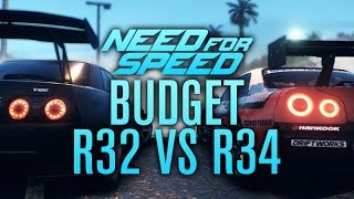 SKYLINE R32 VS R34! BUDGET BUILD #11 | Need for Speed 2015 Gameplay w/ The Nobeds