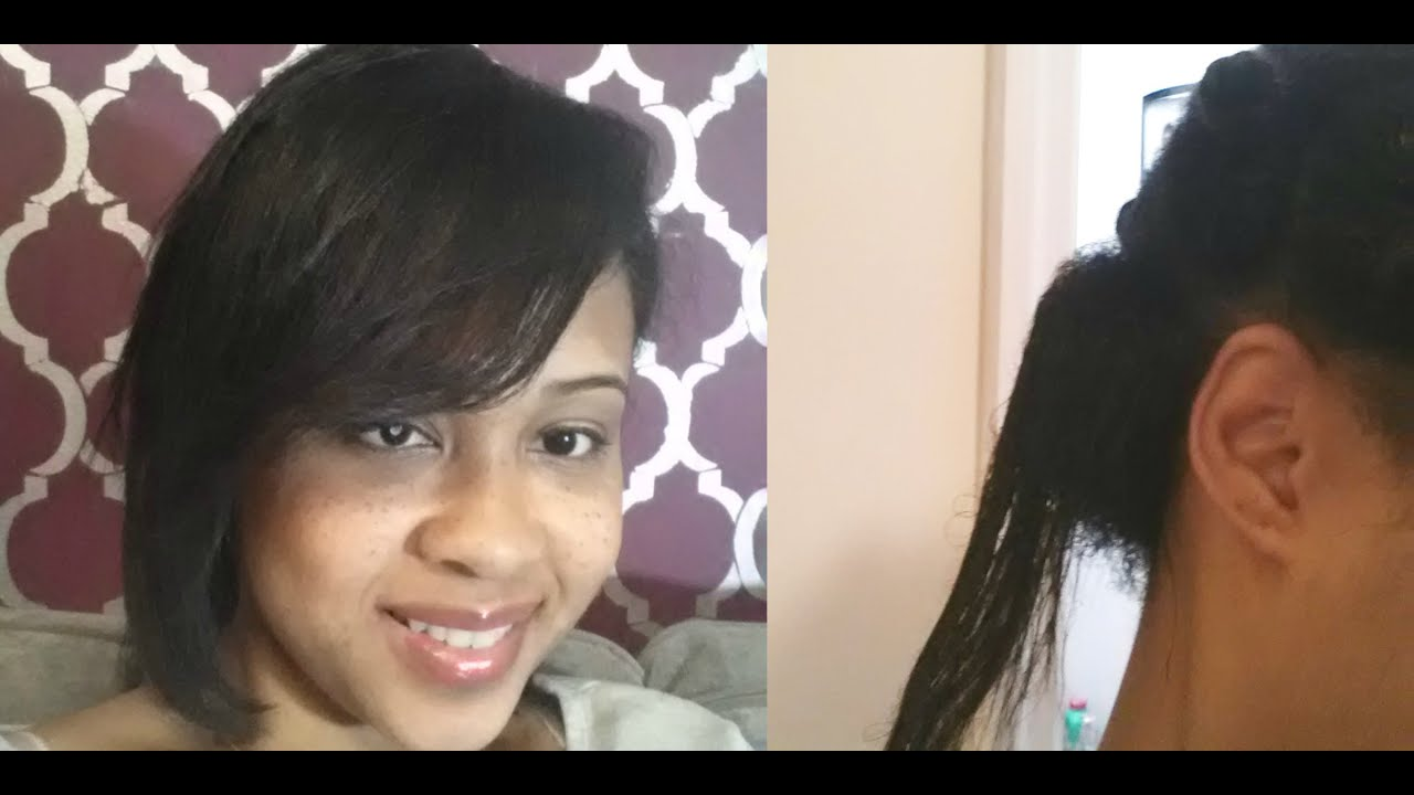 transitioning relaxed hair natural