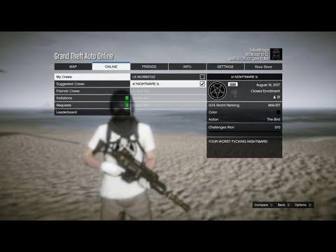 Grand Theft Auto V | How to Make Your Crew Color Black!