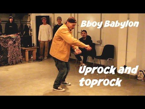 Bboy Babylon uprocking and toprocking showcase for Rainy Day and Coffee Break