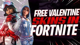 The NEW Fortnite VALENTINES DAY CHALLENGES! Free VALENTINES Skins!