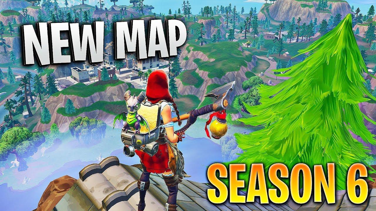The NEW Fortnite Season 6 Map!! (Fortnite Battle Royale Season 6 Gameplay)