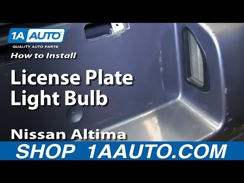 How To Replace License Plate Lamp 1998 Ford Contour