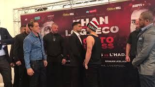 AMIR KHAN VS. PHIL LO GRECO FACEOFF