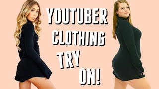 Trying Outfits from Youtuber Clothing Lines on a Curvy Body!