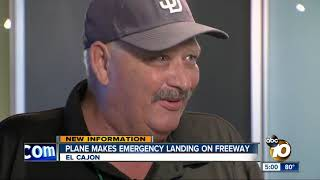 Plane makes emergency landing on I-8 in El Cajon