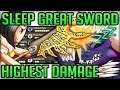 Kill ANY Monster in 3 Hits - Highest Damage Sleep Great Sword Build Fun - Monster Hunter World! #mhw
