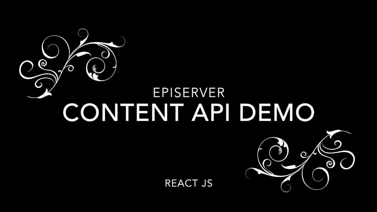 EPiServer Headless Content Api Demo with ReactJS