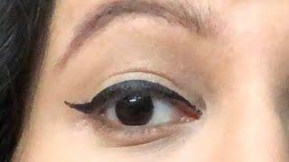 विंग्ड आई लाइनर लगाने का आसान तरीका/ Winged eyeliner easy way for beginners in HINDI