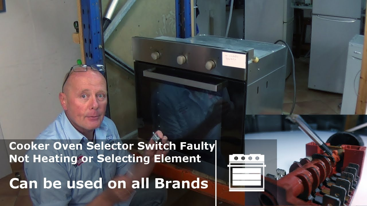 Oven function selector switch, troubleshooting, wiring & ing on