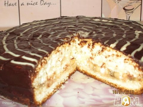 РЕЦЕПТ ТОРТА Бисквитный торт с бананом