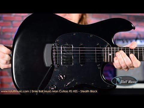 Ernie Ball Music Man Cutlass RS HSS - Stealth Black