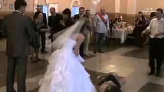 The funniest fall at a wedding! Крутейшие падения на свадьбе!!!
