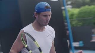 Watch Nadal Train Sunday At The Australian Open 2019