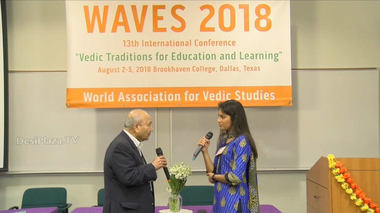 Media Byte / Interview with Dr. Ved Nanda at WAVES  Dallas, Texas - 2018.