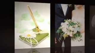 Свадебная ручка с подставкой Gilliann Camomile PEN007