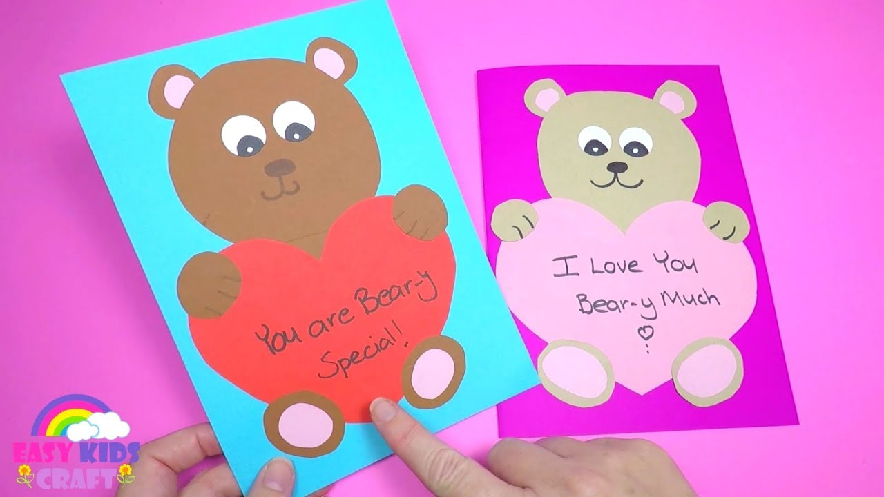 How To Make A Mothers Day Card Paper Craft For Kids Youtube