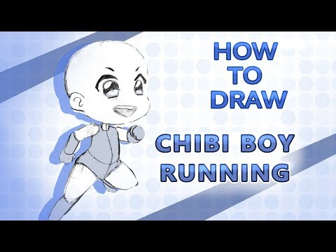 How To Draw Chibi Boy Running Pose! EASY Step By Step Tutorial!