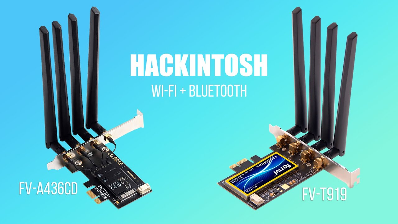 COMPARATIVO DE PLACA WI-FI HACKINTOSH FV-A43CD VS FV-T919