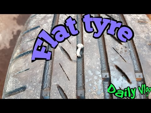 Flat Tyre | Daily Vlog | Steve's Vlogs