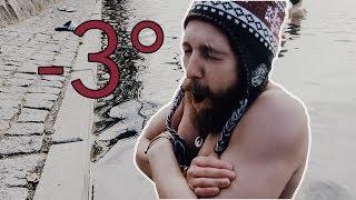 EISBADEN BEI -3° - WOW TUT DAS WEH! (wie lange halte ich durch?)