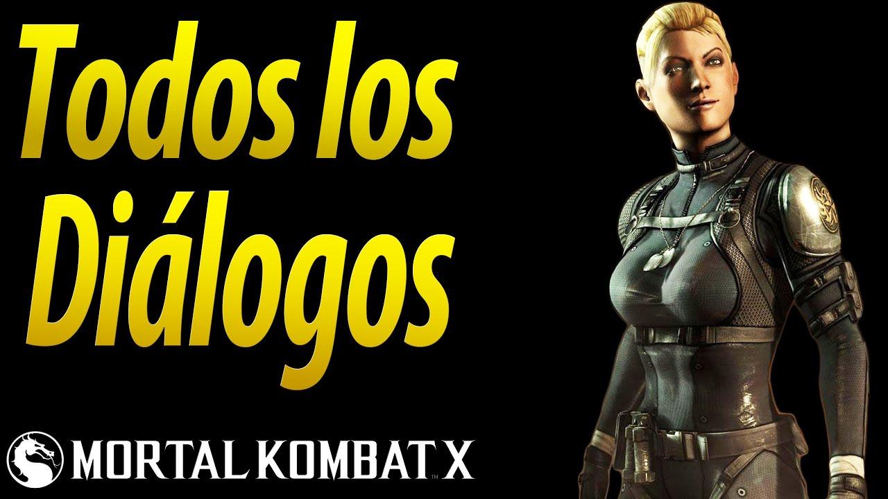 Mortal Kombat X | Español Latino | Todos los Diálogos | Cassie Cage | Xbox One |