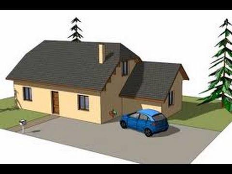 tuto google sketchup 8 faire une maison en moins de 10 minutes youtube. Black Bedroom Furniture Sets. Home Design Ideas