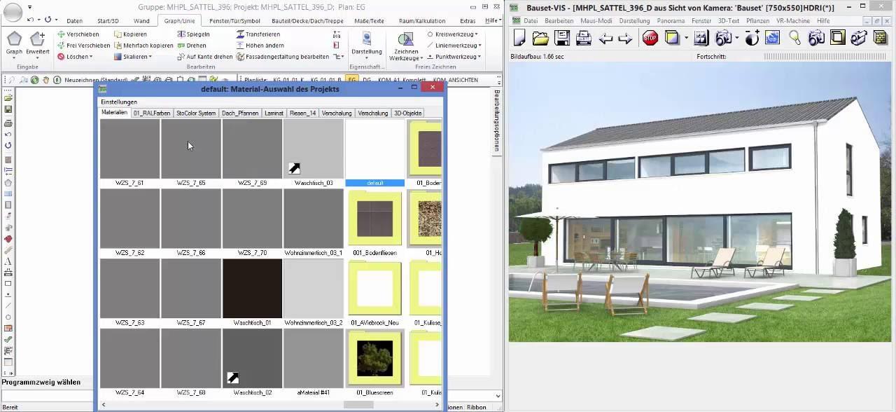 Bauset Cad visualisierung mit bauset architektur cad version 15