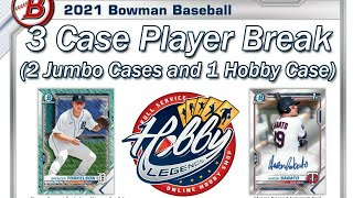 CASE #1 of 3   -   2021 BOWMAN 10 CASE (2 JUMBO + 1 HOBBY) PLAYER BREAK   eBay 05/17/21